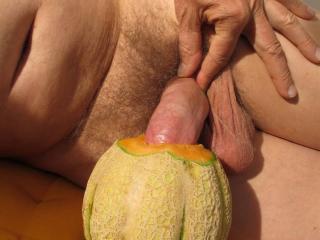 Fruit fucking - natural juicy toy