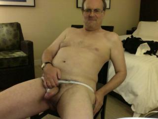Fun in white undies