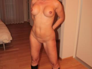 Posing almost naked
