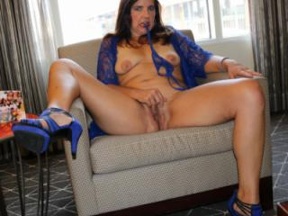 My blue shoes make me feel sexy, what do they do for you?