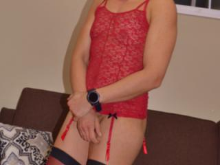 red bustier and stockings2 6 of 20