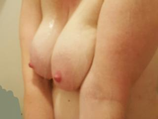 Cleavage in the shower