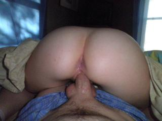 Filling her in reverse cowgirl