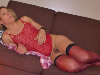 red bustier and stockings4 7 of 20