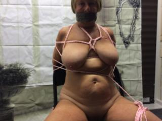 Naked bound gagged