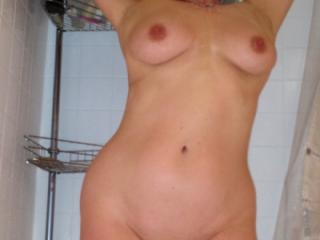 Busty Mature Showering