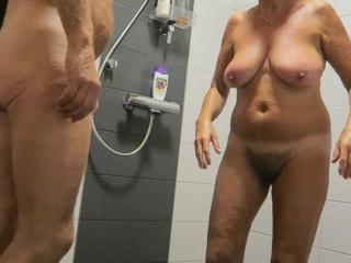 Shower again