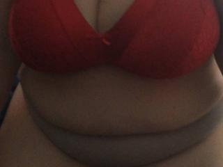 My boobs in my red bra...