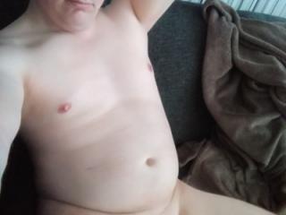 stripped guy posing