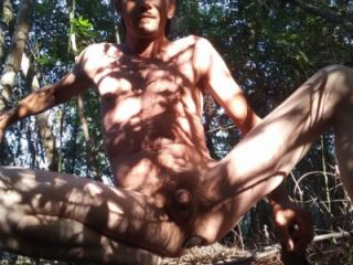 Naked in the park